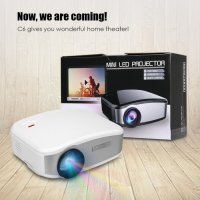 Projektor CHEERLUX C6 Mini Infokus Proyektor LED Projector TV Tuner