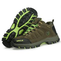 Sepatu Boot Gunung/Hiking/Outdoor Wanita - SNTA 607 Green Waterproof