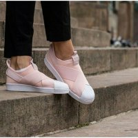 SEPATU SNEAKERS ADIDAS SUPERSTAR SLIP ON WMNS BLUSH PINK