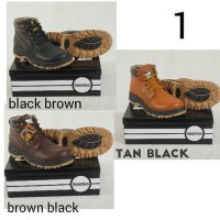 safety boot by sportex sepatu safety pria termurah from bandung - Hitam, 39