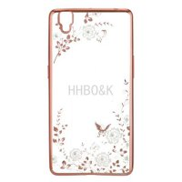 Case Flower Diamond Softcase Oppo F1 Plus - Gold