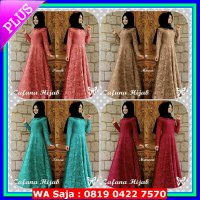 dress + Pashmina Hijab dress Zafana Brukat
