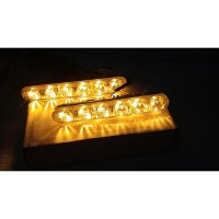 [Dijamin] LAMPU DRL + SEIN 12 LED With CRYSTALE LENS (DRL FORTUNER)