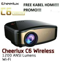 NEW portable proyektor cherlux c6 + tuner tv 1200 lumens