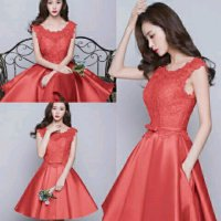 Dress Brukat Merah 1154SU