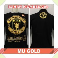 [Best Seller] KAOS BAJU DISTRO BOLA - MU GOLD / MANCHESTER UNITED