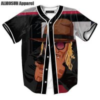 [globalbuy] ALMOSUN Young Metro Dont Trust You Jersey All Over Print Baseball T-Shirt Stre/4216157