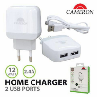 adaptor travel charger iphone samsung xiaomi oppo 2 usb 2.4A original