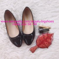 SEPATU WANITA FLAT SHOES SALMA BLACK BIG SIZE 34 - 44 DUMBUM SHOES