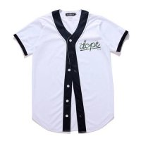 [globalbuy] Floral Baseball Shirt New York T Shirt Men Baseball Mesh Jersey Men Unisex Hip/4215775
