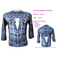 LP Blue Spider Man Costume L - Kaos / Full Print / Thailand / Distro / Unisex / All Size / 3D