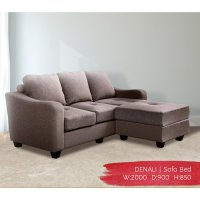 Offo Living - Sofa Denali Fabric Coffee Brown