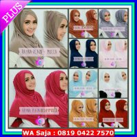 [Gold Product] JILBAB LANGSUNG / INSTAN / SYRIA / BERGO RAYNA POLOS JERSEY