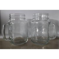KHUSUS GO-SEND - Drinking Jar Harvest / Mug cafe / Toples tanpa tutup /SINAR35