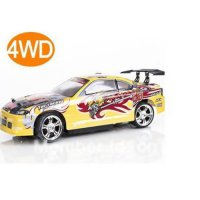 [globalbuy] free shipping yellow color rc racing car drift 1/14 REMOTE Control 4WD ELECTRI/2412857