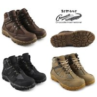 Sepatu Boots Pria Boots armour safety ujung besi Sepatu Hiking Boots Tracking