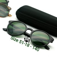 Kacamata Round Vintage RB 2180 Black Doff Kacamata UV Protection