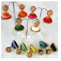 promo anting india jhumka earring with stud
