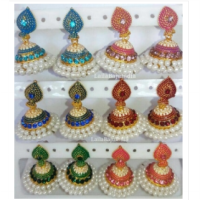 anting india jhumka with pearl
