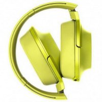Sony Headphones High Resolution MDR-100AAP - Lime Yellow