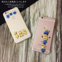 [Free delivery](buy 1 get 1)Minion colourless protective cover phone case for iphone