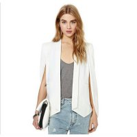 [globalbuy] Long Sleeve Casual Jacket Fashion Womens Suit Coat Cape coat PKXGTPZ5VH-1/4220509