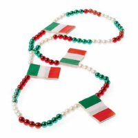 [poledit] US Toy One Italian Flag Red, White & Green Beaded Necklace (T1)/12155010