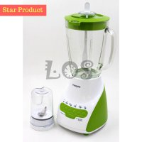 (Dijamin) Philips Blender HR-2116/GREEN (Gelas) (00040.00022)
