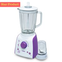 Blender ; Hand Blender & Juicer Turbo Blender Glass By Philips EHM-8098 (Ungu) (00040.00030)