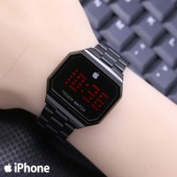 Jam Tangan Wanita Murah Iphone Touch Segi rantai Full Black