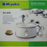 SLOW COOKER MIYAKO 395 WATT 6.3 LITER SC-630 QUALITAS GOOD ORI (SNI)