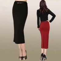 [globalbuy] XS -3XL 2015 Women OL Style Long Skirt Elegant Vocational Business Suit Pencil/4201496