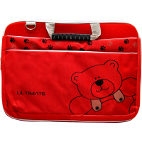 Ultimate Tas laptop Softcase Double Bear 14' - Merah