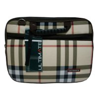 Ultimate Tas Laptop Double Burberry 12' - Coklat