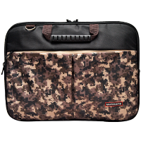 Ultimate Tas laptop Softcase Double Pro Army 12' - Brown