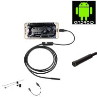 Android 7mm 4cm Focal Distance Endoscope Camera 720P 2M IP67 Waterproof - Black