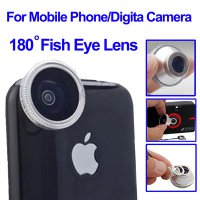 Fisheye Wide Angle 180 Degree Lens for iPhone 4 / Mobile Phone / Digital Camera