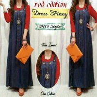 Gamis Muslim Overall Denim Pinny / Dress Denim Overall Lucu Murah
