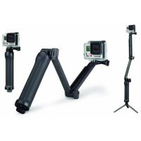 3 Way Foldable Extension Tripod for Xiaomi Yi / Xiaomi Yi 2 4K / GoPro - Black