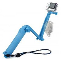 TMC 3 Way Foldable Extension Tripod for Xiaomi Yi / GoPro / Xiaomi Yi 2 4K - HR289 - Blue
