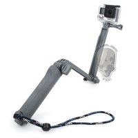 TMC 3 Way Foldable Extension Tripod for Xiaomi Yi / GoPro / Xiaomi Yi 2 4K - HR289 - Gray
