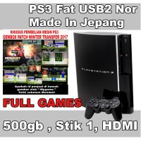 L.I.M.I.T.E.D Playstation 3 Fat / PS3 Fat 500Gb USB 2 NOR Full Games