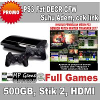 DISKON Garansi 3 Bulan Playstation 3 Fat / PS3 Fat 500gb LAN 2 DECR