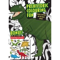 Prehistoric Colouring Fun Dinosaurus Buku Mewarnai + Body Art Sticker