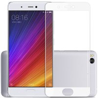 HMC Xiaomi Mi 5 - 2.5D Full Screen Tempered Glass + Lis Putih