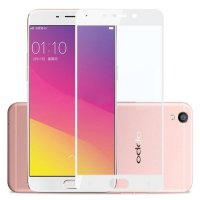 HMC Oppo Neo 9 / A37 - 2.5D Full Screen Tempered Glass + Lis Putih