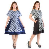Jfashion Midi Dress Big Size Edition Sonia / Dress Big Size / Pakaian Wanita Plus Size / Dress Wanita