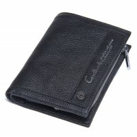 Contacts Dompet Pria Bahan Kulit - M1243 - Black