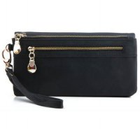 Dompet Wanita Clutch Long Zipper Smartphone Wallet - Black