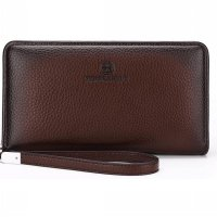 FEIDIKABOLO Dompet Pria Long Zipper Wallet - 009 (OEM) - Brown